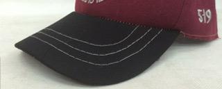 普通厂家帽子车缝线稀疏粗大,没有细节