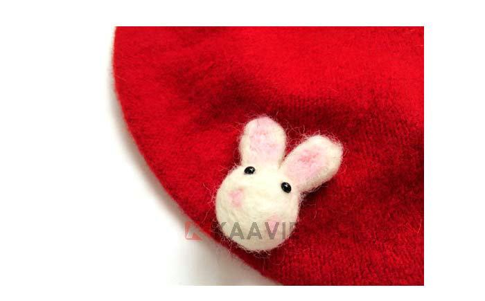可爱卡通小兔子贝雷帽定做