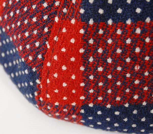 超时尚特别 红色格子小点点八页贝雷帽定做