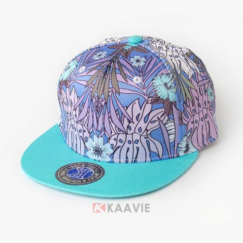 新款撞色拼接印花嘻哈街舞平板帽 小清新款定做