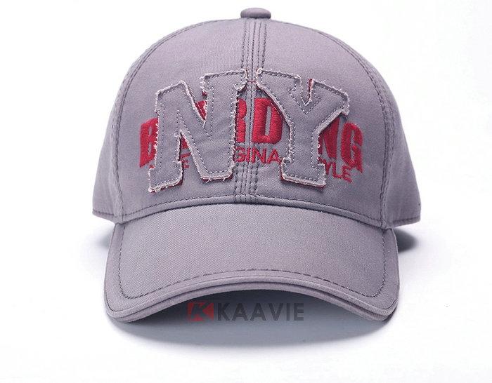 高端NY字母贴布绣花纯色六页棒球帽 广州帽厂OEM加工