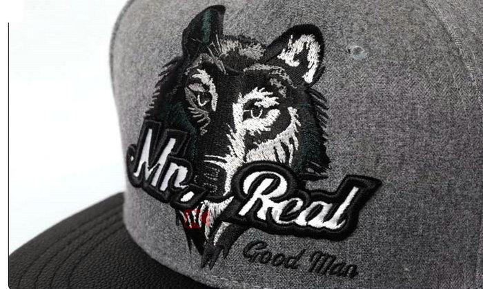 款狼头绣花字母平沿棒球帽 嘻哈街舞帽加工订制 PM145