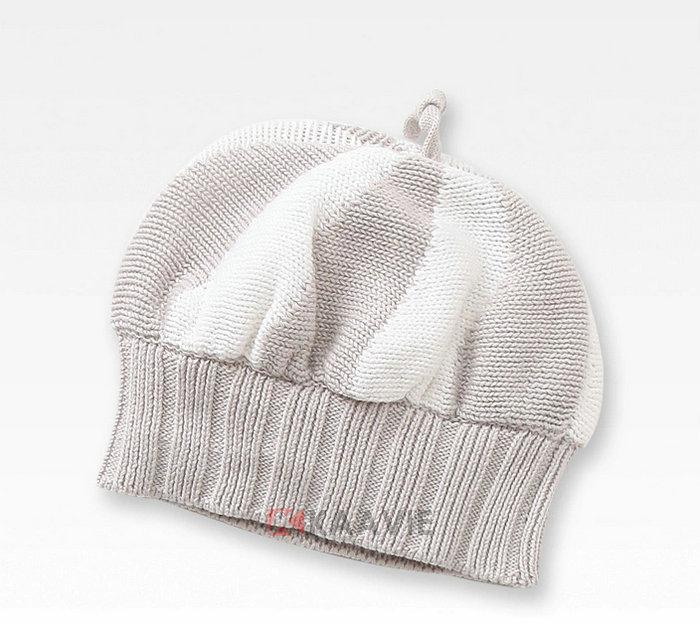 凯维帽业-儿童 婴儿条纹混色针织毛线帽
