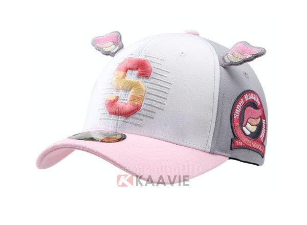 儿童帽 凯维帽业-3d绣花字母logo小翅膀