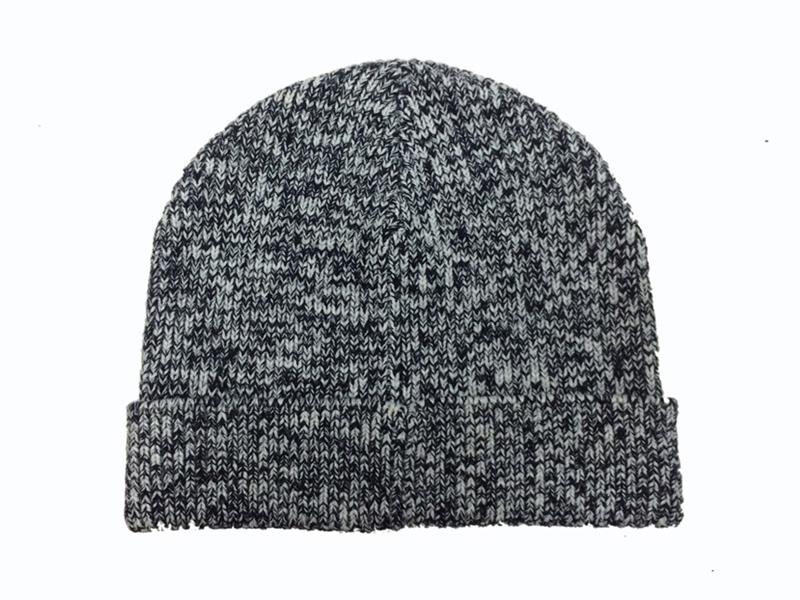 凯维帽业-花灰混色针织帽ZM006