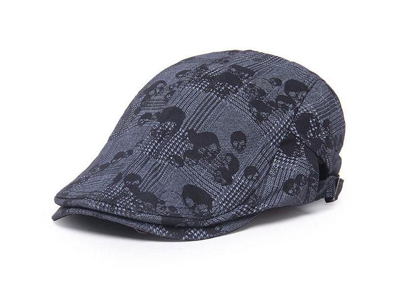 凯维帽业-骷髅头鸭舌帽男女款定做 -EM011