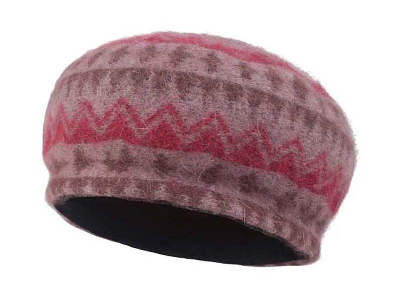 凯维帽业-女款兔毛时尚贝雷套头帽-FH042
