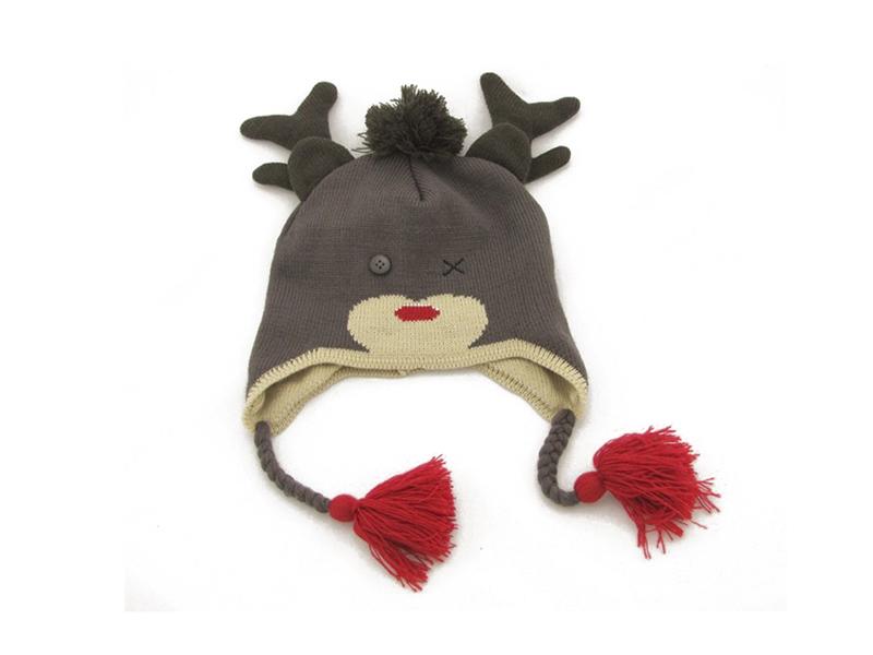 凯维帽业-儿童冬天鹿角可爱针织帽定做-RM028