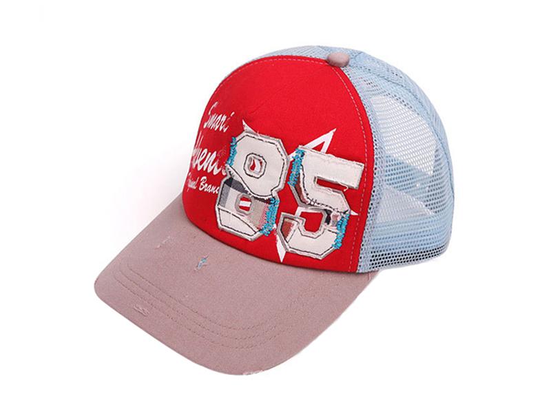 凯维帽业-儿童网帽做旧复古帽定做-RM057