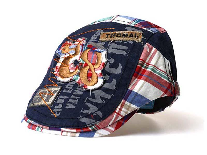 凯维帽业-复古英伦 水洗做旧儿童鸭舌帽订做-EM028