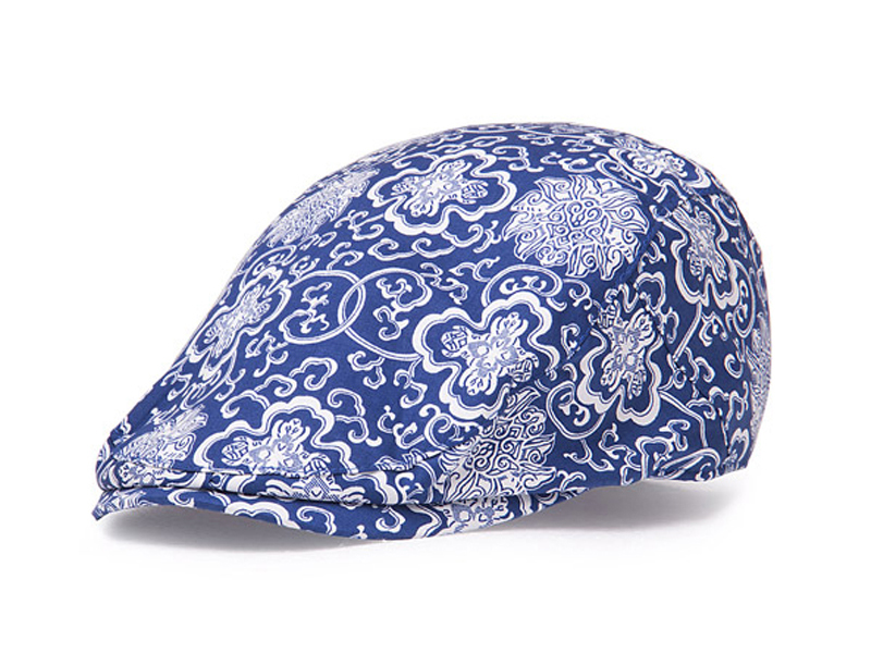 凯维帽业-复古印花鸭舌帽 小清新款定做-EM034