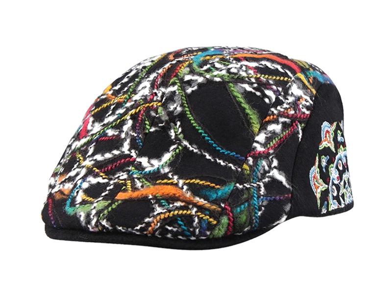 凯维帽业-设计款毛线绣鸭舌帽定做-EM054