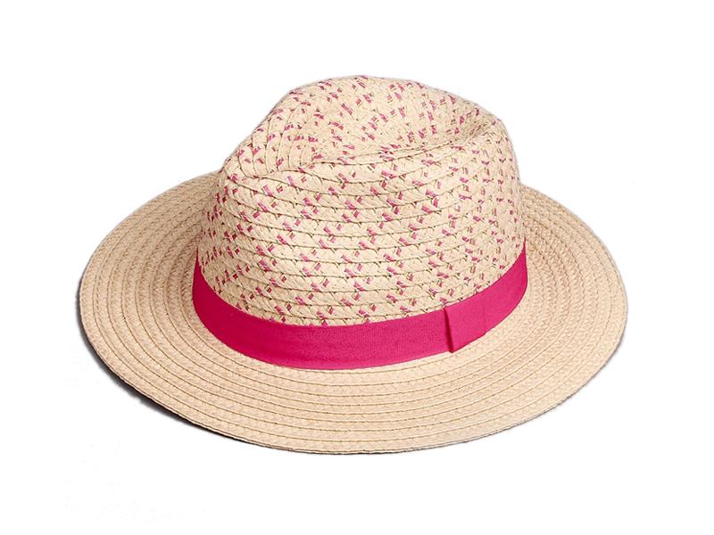 凯维帽业-新款女士小清新款大檐沙滩遮阳草帽定做定制 时尚潮流-CZ080