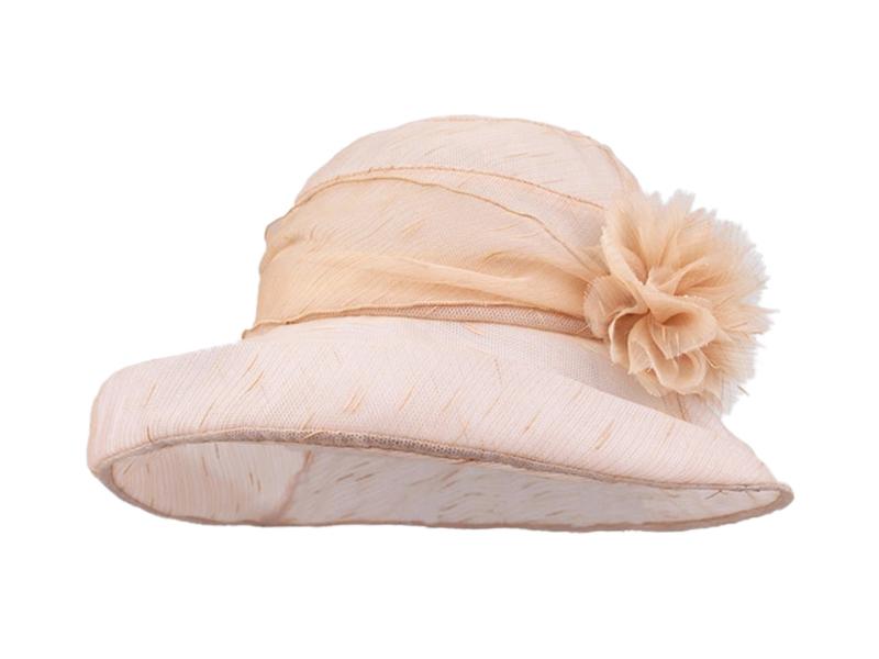 凯维帽业-女士夏季渔夫帽 装饰花 丝带拼接 纯色 广东广州帽厂 -YM118