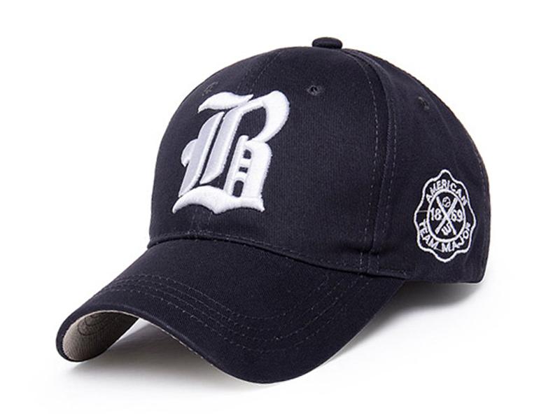 凯维帽业-帽厂订做高端纯色3D绣花LOGO六页夏季遮阳棒球帽-BM138