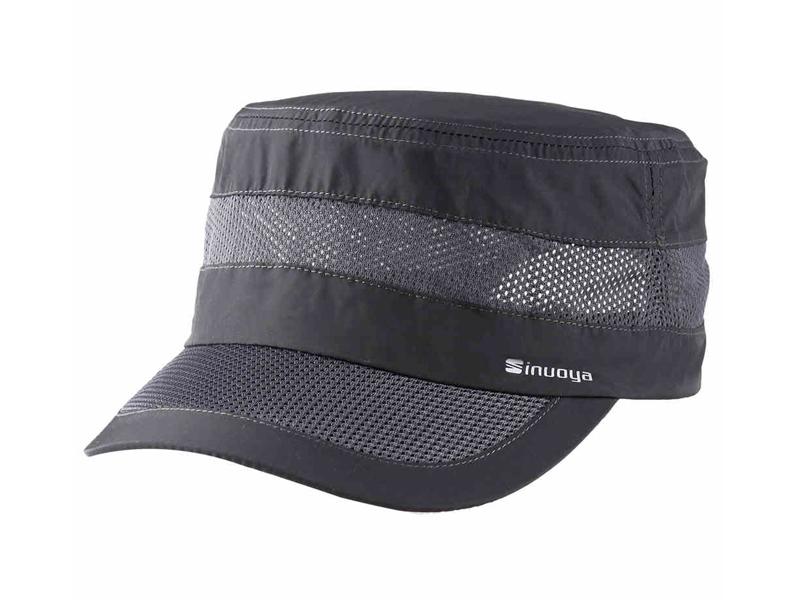 凯维帽业-夏季网布拼接透气高端平顶军帽外贸出口ODM贴牌订制-JT063