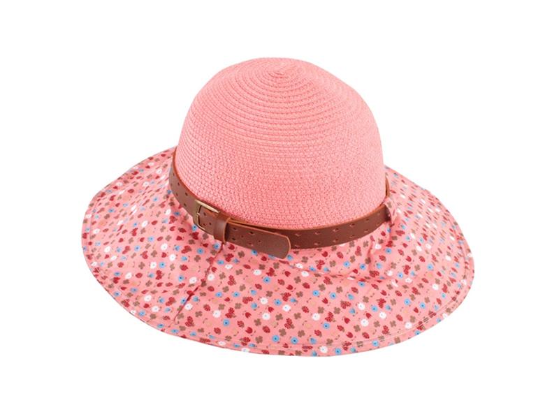 凯维帽业-女士夏季皮带草编渔夫帽 外贸OEM出口贴牌订制加工-CZ103