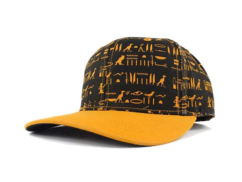 凯维帽业-2015夏季新款撞色拼接图腾印花六页棒球帽订制加工-PM117