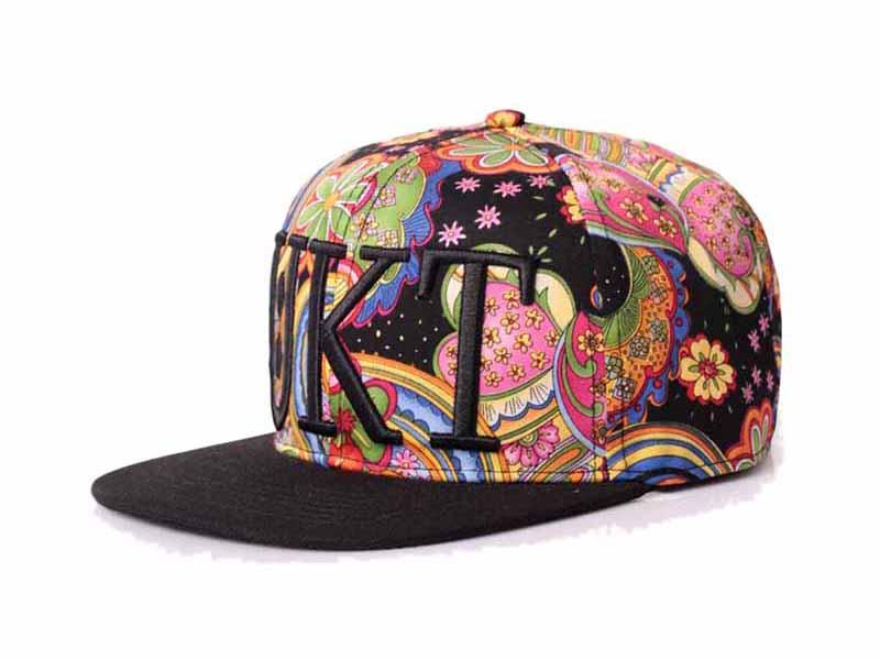 凯维帽业-2015新款3D绣花印花混搭夏季时装嘻哈平沿帽 外贸订制 -PM132