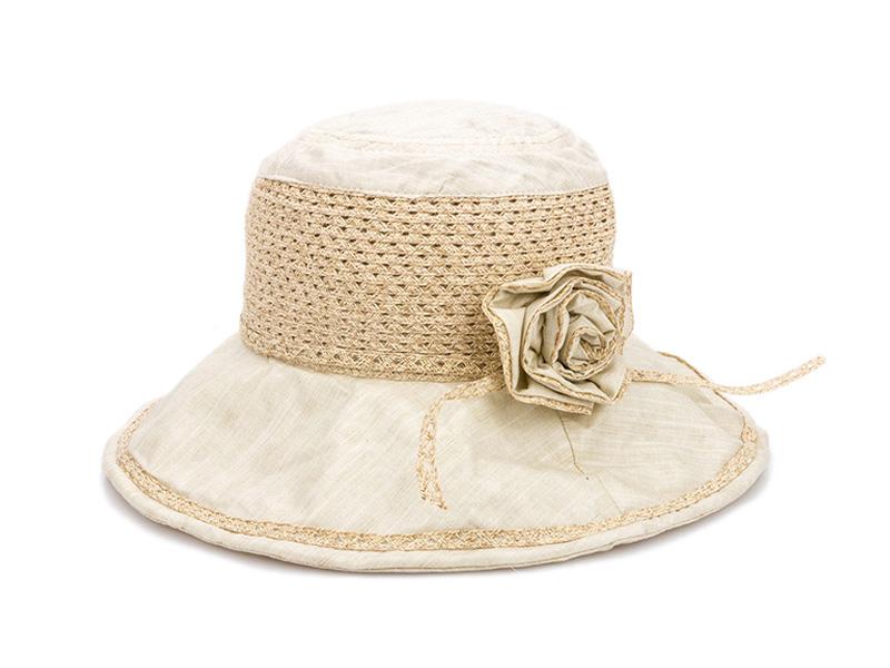 凯维帽业-女士装饰花朵草编帽子 春夏户外遮阳帽 21年制帽经验 -CZ121