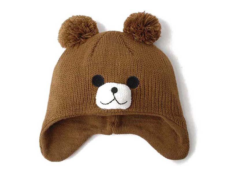 凯维帽业-可爱小熊儿童针织帽定做