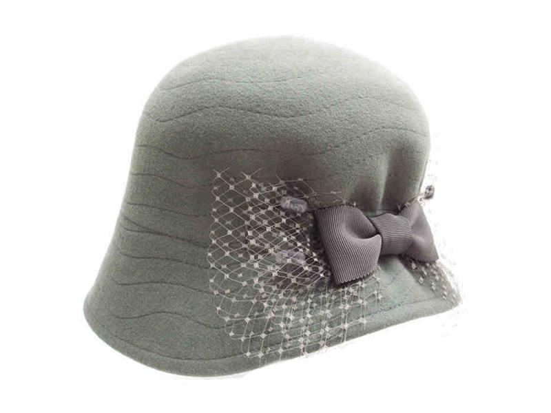 凯维帽业-外贸出口 女士蝴蝶结羊毛时装贝雷帽