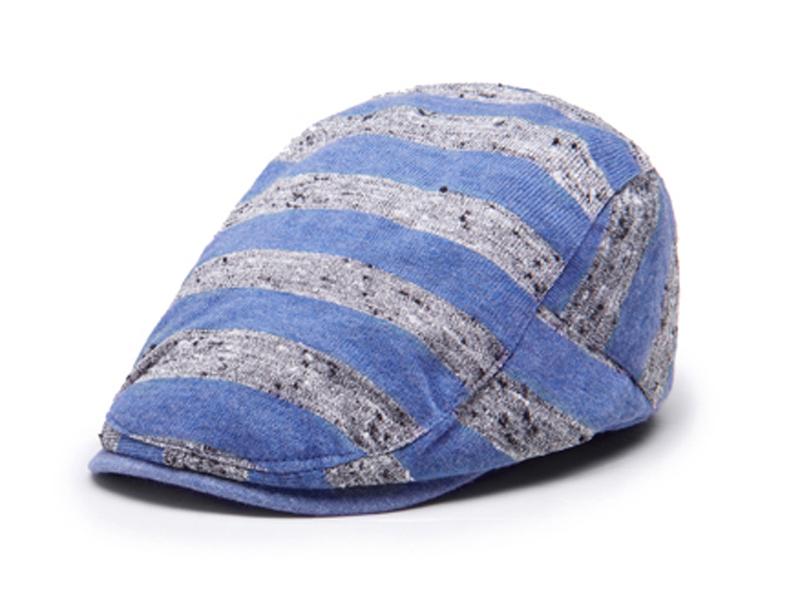 凯维帽业-全棉条纹简约男女款鸭舌帽EM075
