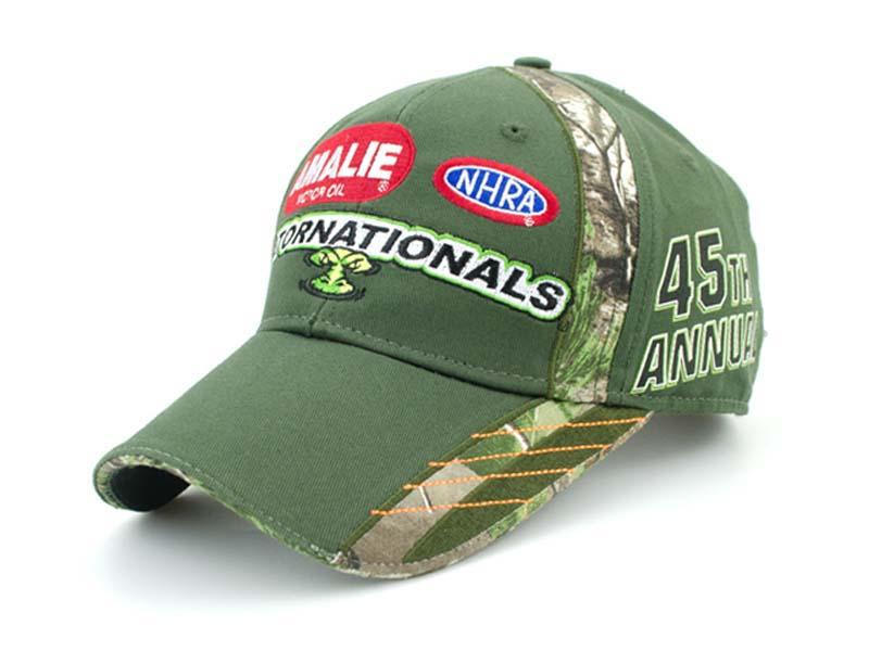 凯维帽业-绿色驳接绣花棒球帽 BM255