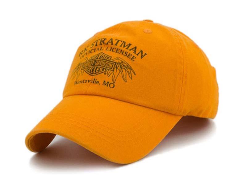 凯维帽业-黄色绣花字母鸭舌帽 BM271