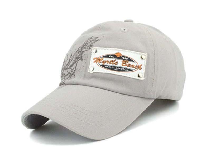 凯维帽业-纯色贴布绣花印花混的六页纯色遮阳棒球帽BM278
