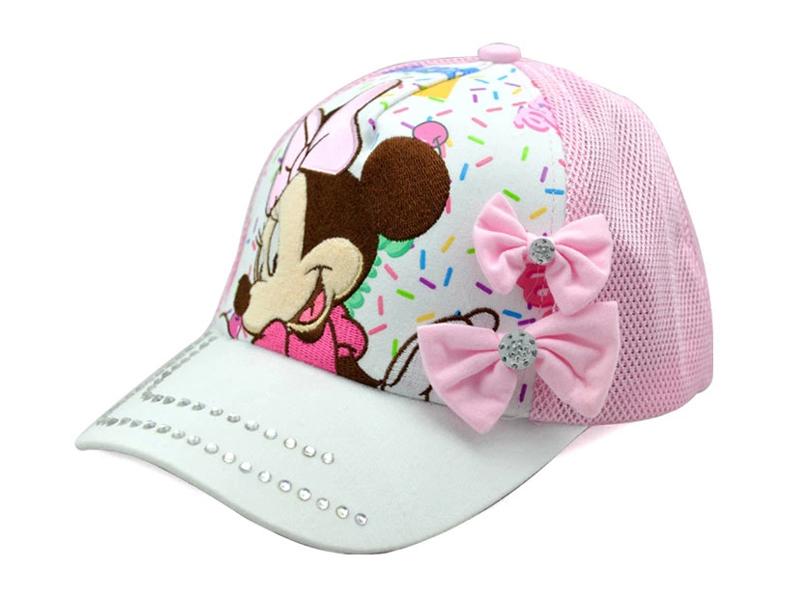 凯维帽业-水晶米老鼠拼接可爱棒球网帽定做RM222