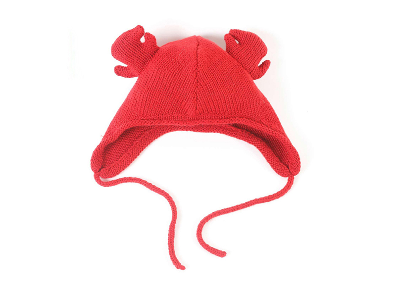 凯维帽业-纯色螃蟹儿童可爱保暖针织毛线帽订制RM316