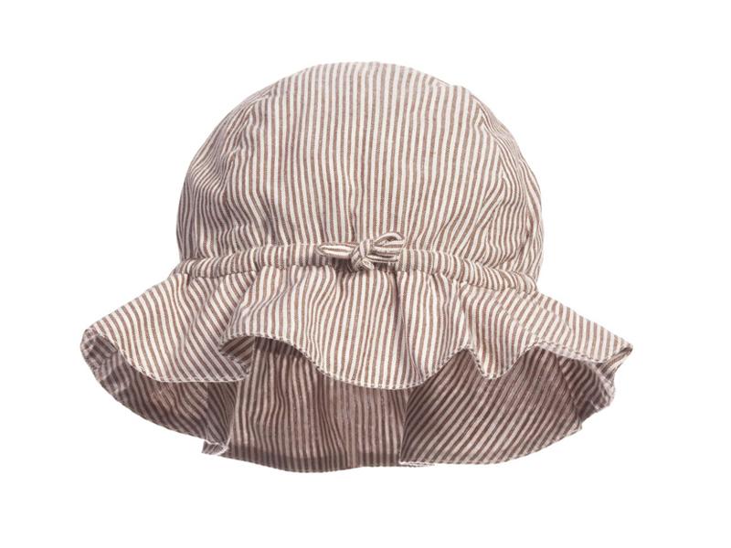 凯维帽业-儿童条纹荷叶边简约户外遮阳大边遮阳帽RM320