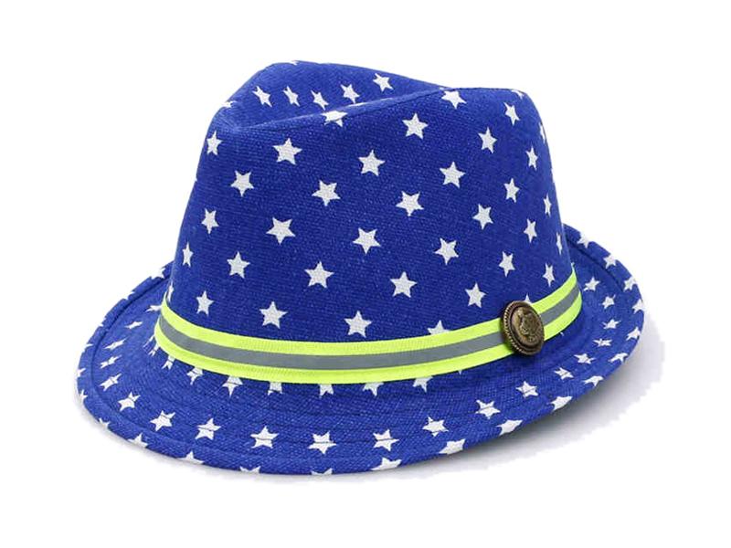 凯维帽业-小清新款儿童小星星印花定型礼帽RM374