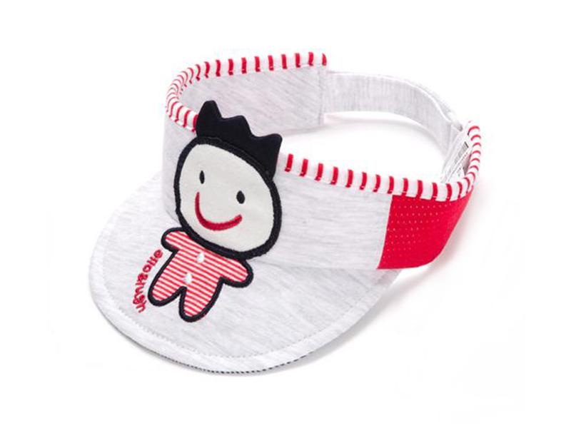 凯维帽业-可爱小人绣花儿童空顶帽 夏季 婴儿帽AM075