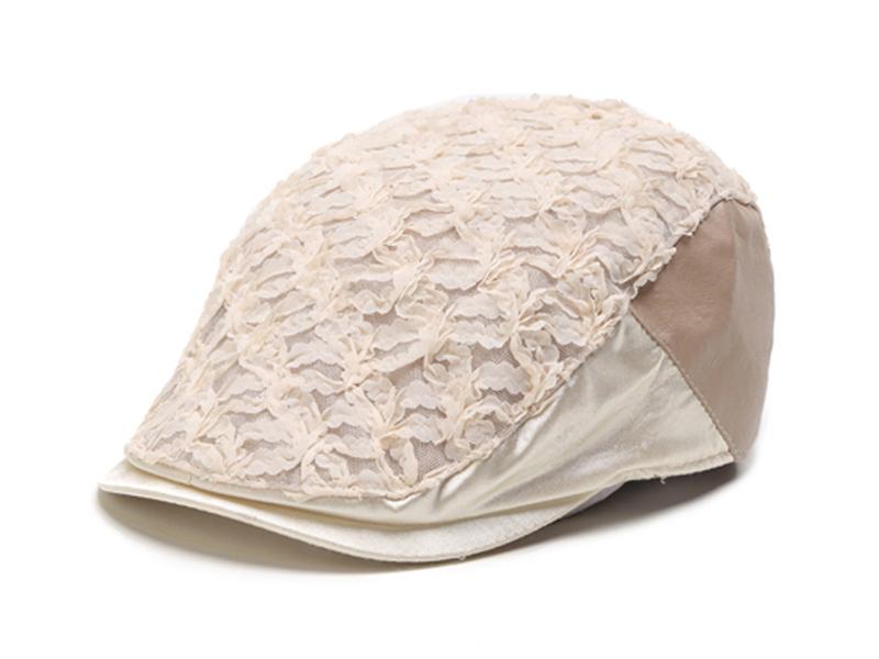 凯维帽业-蕾丝拼接女士夏季遮阳时装鸭舌帽ET071