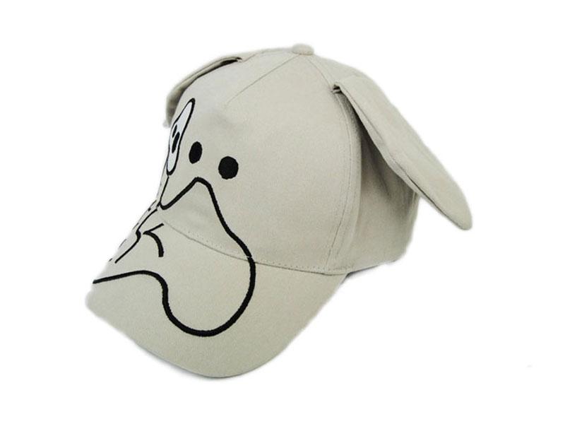 凯维帽业-米白色小狗绣花可爱卡通棒球帽 RM539