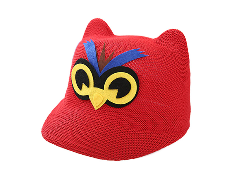 凯维帽业-儿童啄木鸟可爱定型草帽定做RZ090