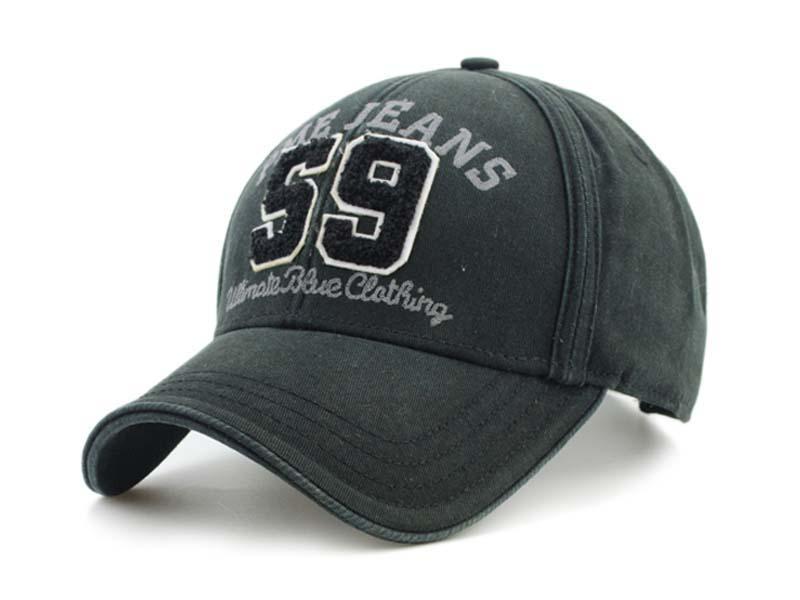凯维帽业-纯色毛巾绣数字字母六页棒球帽订做BM297