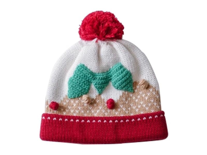 凯维帽业-可爱女孩加厚针织帽定做ZM094