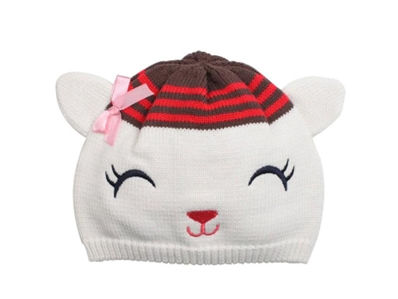 凯维帽业-眯眯眼可爱针织帽定做ZM099