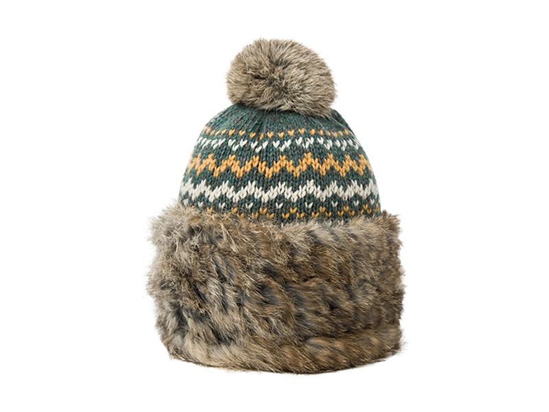 凯维帽业-简约条纹加厚针织帽 ZW002