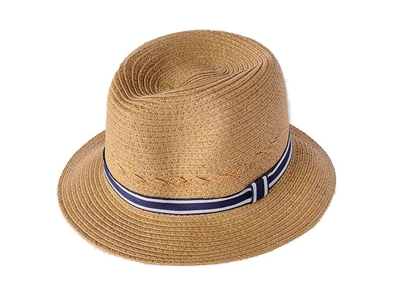 凯维帽业-小男孩简约时尚潮流定型草帽RZ355