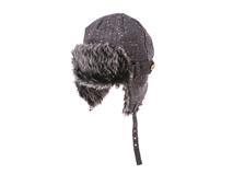 黑白视频体育直播-长毛保暖雷锋帽LF006