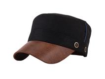 凯维帽业-真皮男士军帽JM012
