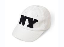 凯维帽业-白色毛巾绣儿童六页帽BM016