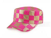 凯维帽业-时装军帽 格子JM016