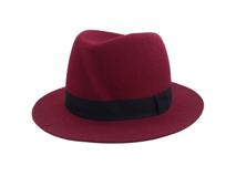 凯维帽业-女士酒红时装毡帽DW006