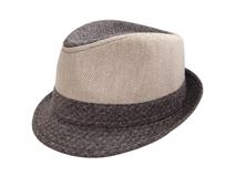 凯维帽业-拼色羊毛人字斜定型礼帽DW007