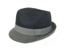 凯维帽业-撞色草帽纸草时尚定型帽定做-CZ009